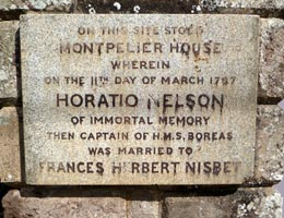 Stone tablet commemorating Nelson
